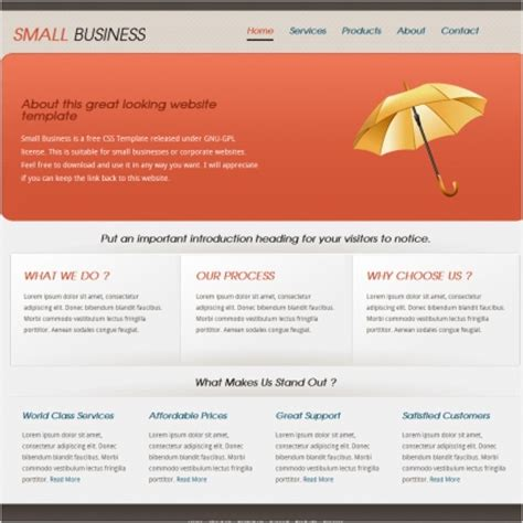 free website templates for business in html small business template free website templates in css