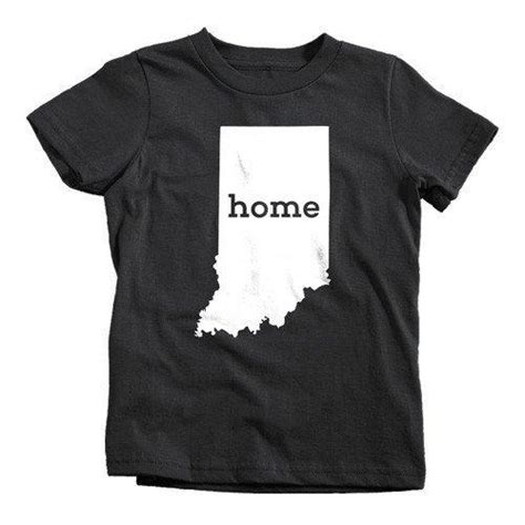 Indiana Home Shirt by Indiana Home T Shirt State Pride Textual Tees