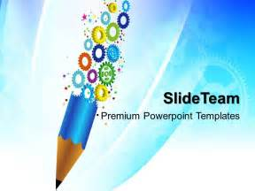 powerpoint templates for education powerpoint templates for education gears and pencil