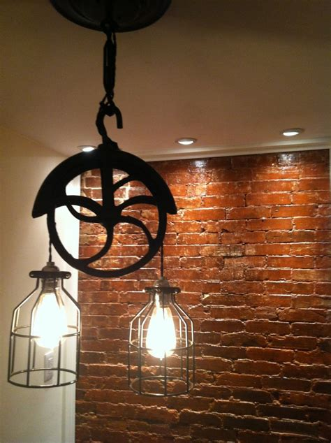 Repurposed Lighting Fixtures 1000 Ideas About Pulley Light On Pulley Industrial And Ls