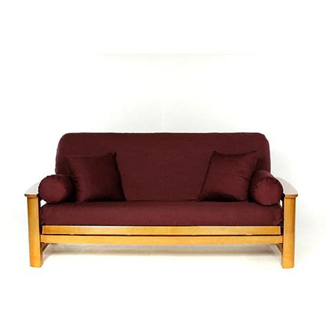 full futon cover burgandy full size futon cover 12936342 overstock com