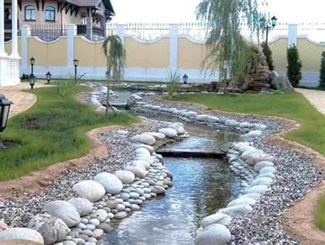 backyard pebbles 25 beautiful landscaping ideas adding beach stones to