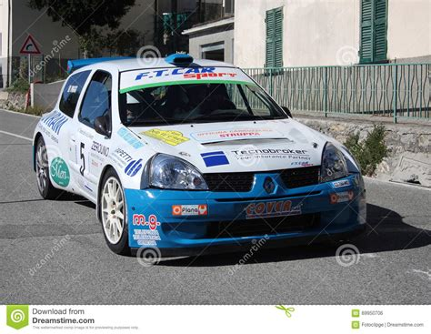 renault clio rally car renault clio 1600 rally car editorial photo image