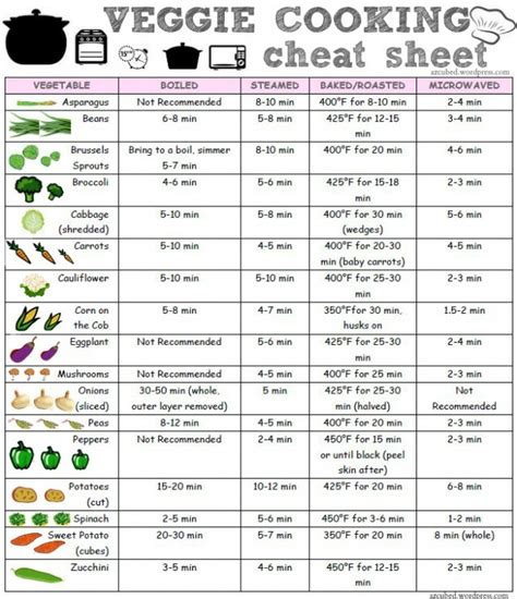 cooking infographic how to cook vegetables sheet infographic