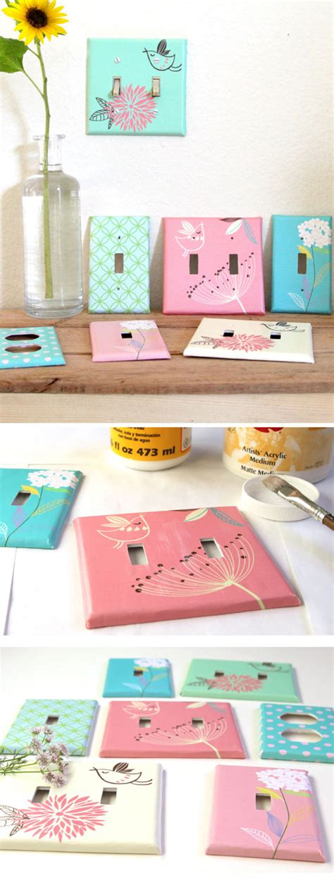easy diy home decor ideas diy designer switchplates diy home decor ideas on a