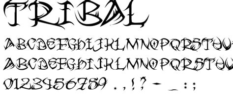 tribal font gothic various category pickafont com