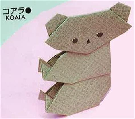 Koala Origami - all about kidz how to make a koala origami