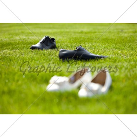 Wedding Shoes For Grass by Wedding Shoes In The Grass Field 183 Gl Stock Images