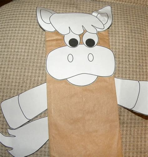 paper bag donkey pattern from the hive palm sunday plans