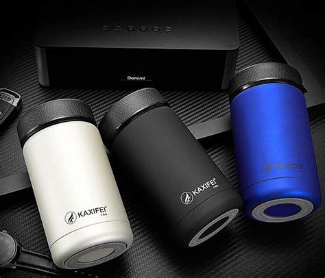 Pelindung Cooler mimimo botol minum thermos mini stainless steel 400ml black jakartanotebook