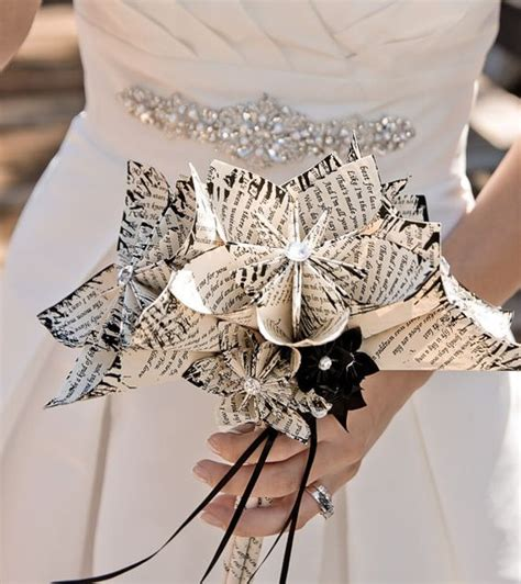 Wedding Bouquet Made From Books by Bridal Bouquets Without Flowers For Non Traditional Brides