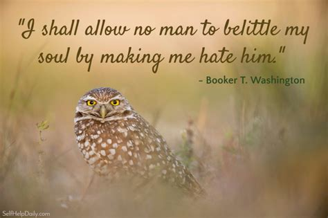 booker  washington quote graphic hate   daily