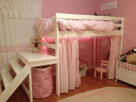ana white  girls jr loft bed diy projects