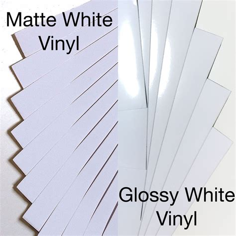 printable vinyl paper a4 self adhesive matte x10 sheets and glossy x10 sheets