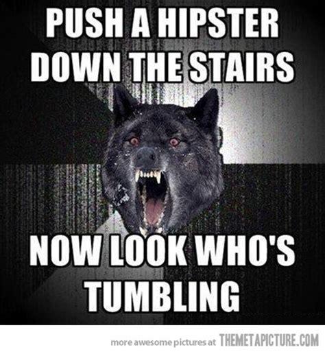 Meme Wolf - hipster dog meme
