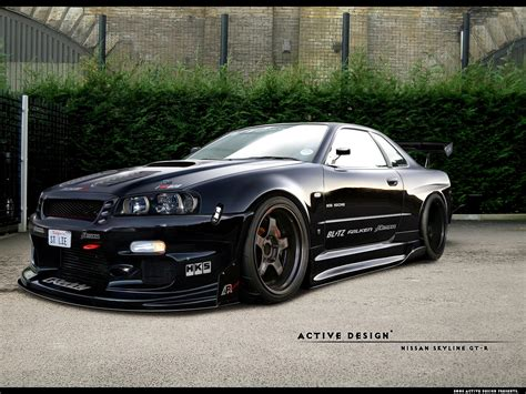 nissan r34 nissan skyline gtr wallpapers