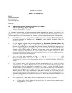 Commercial Leasing Cover Letter by Writing And Editing Services Letter Of Intent On Lease