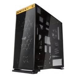 gabinete usb 3 1 gabinete gamer in win 805 dorado modular cristal