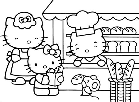 coloring sheet kitty printed description