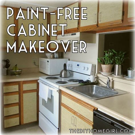 How To Makeover Kitchen Cabinets How To Make Your Kitchen Cabinets Without Paint The Diy Homegirl