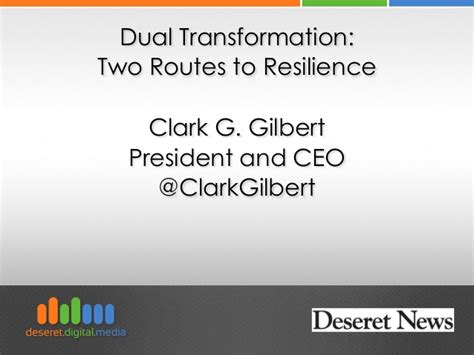 Byu Mba Class Size by Dual Transformation 2 Routes To Resilience Clark