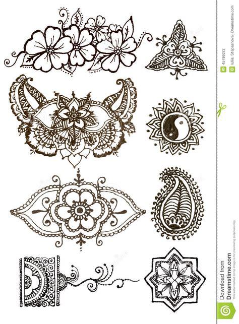 henna wzor 243 w tatuaż na białym tle ilustracji obraz 45796033