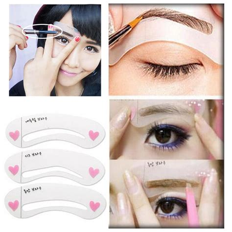 Eyeshadow Eyeliner Grooming Shaping Template Stencil Card by 2017 Real Eyebrow Stencil Eyeliner Template 3 Styles Set