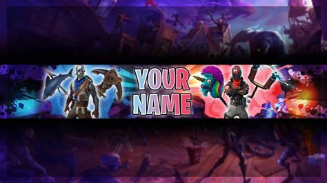 fortnite youtuber names free fortnite banner template fortnite channel
