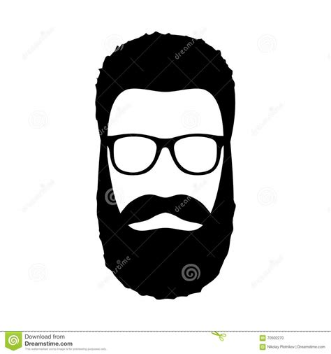 S Hairstyle Glasses Beard by Icon Hairstyle Beard And Glasses In Flat