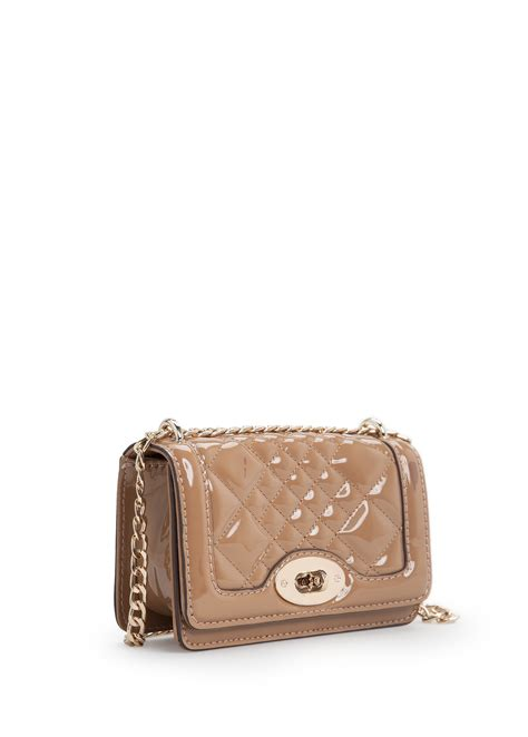 Quilted Cross Bag by Mango Quilted Patent Cross Bag In Beige Lyst