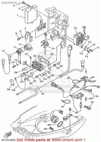 yamaha f40 f50 t50trx 1999 electrical 2 schematic partsfiche