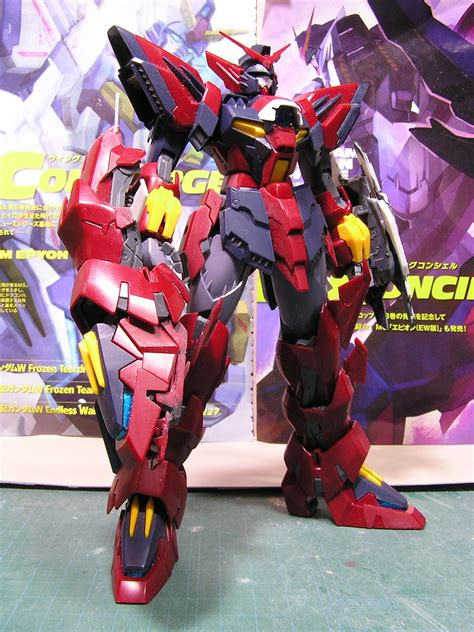 mg  gundam epyon white custom work wleds
