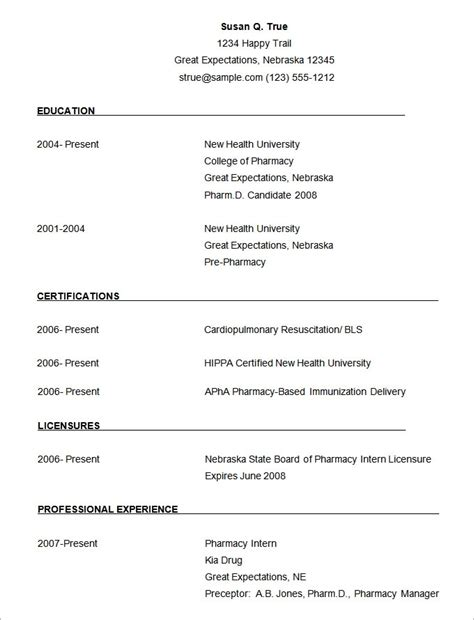 best sle resume format in word 28 images simple resume