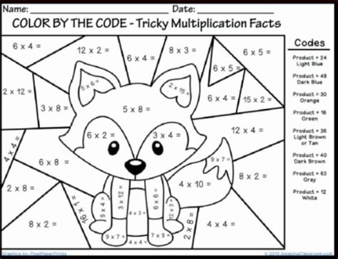 coloring pages with multiplication facts math coloring pages printable 2 homeschool activities