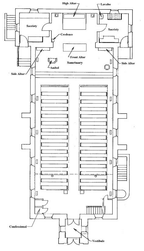 floor plan of a church st at sag bridge