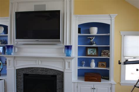 fireplace mantel wall unit traditional living room