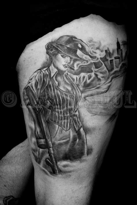 1930s gangsta lady tattoo art n soul tattoo studio