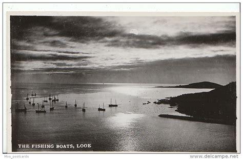 boat auctions cornwall cornwall postcard the fishing boats looe cornwall