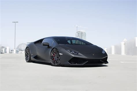 matte black lamborghini huracán by gmg racing front side