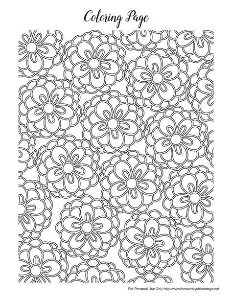 free printable coloring pages for adults spring free spring coloring pages for adults the country chic