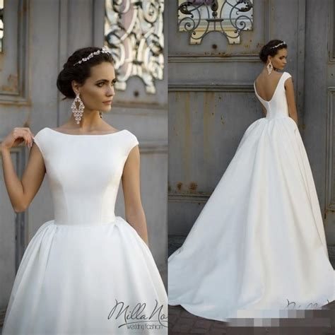 simple country style wedding dresses simple style 2016 white wedding dresses neck cap