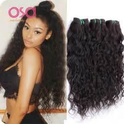 and wavy human hair weave hairstyles 3 bundles brazilian virgin hair water wave virgin hair wet