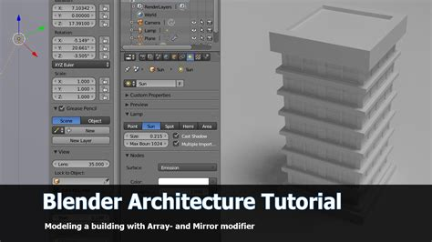 blender tutorial array modifier how to create buildings with modifiers blendernation