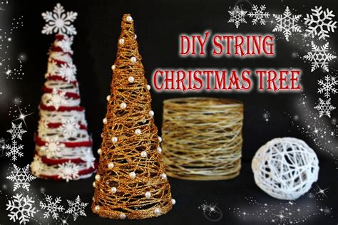 diy string christmas tree youtube