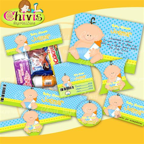 Baby Shower Kit by Kit Imprimibles Para Baby Shower Y Nino 7 499 En