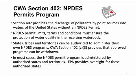 Clean Water Act Section 401 by 82 Cwa Section 402 Major Cwa Programs Section 401