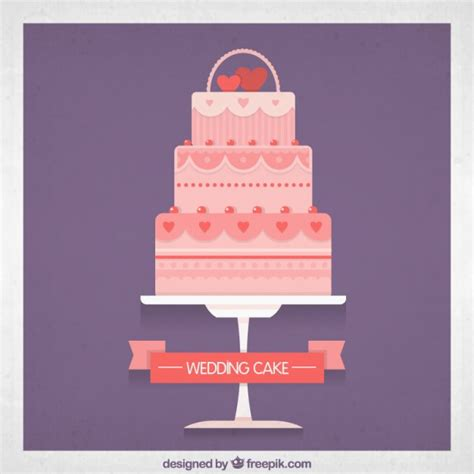 Wedding Cake Vector by Pink Wedding Cake Vector Free