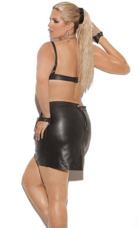 Leather Shelf Bra underwire leather shelf bra plus size