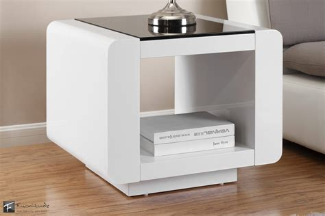 White Gloss Side Table Black And White Bedside Tables White Mirrored Bedside Table Mirrored Nightstand Jcpenney
