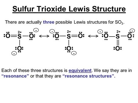 sulfur lewis dot diagram lewis structures of sulfur trioxide there are actually